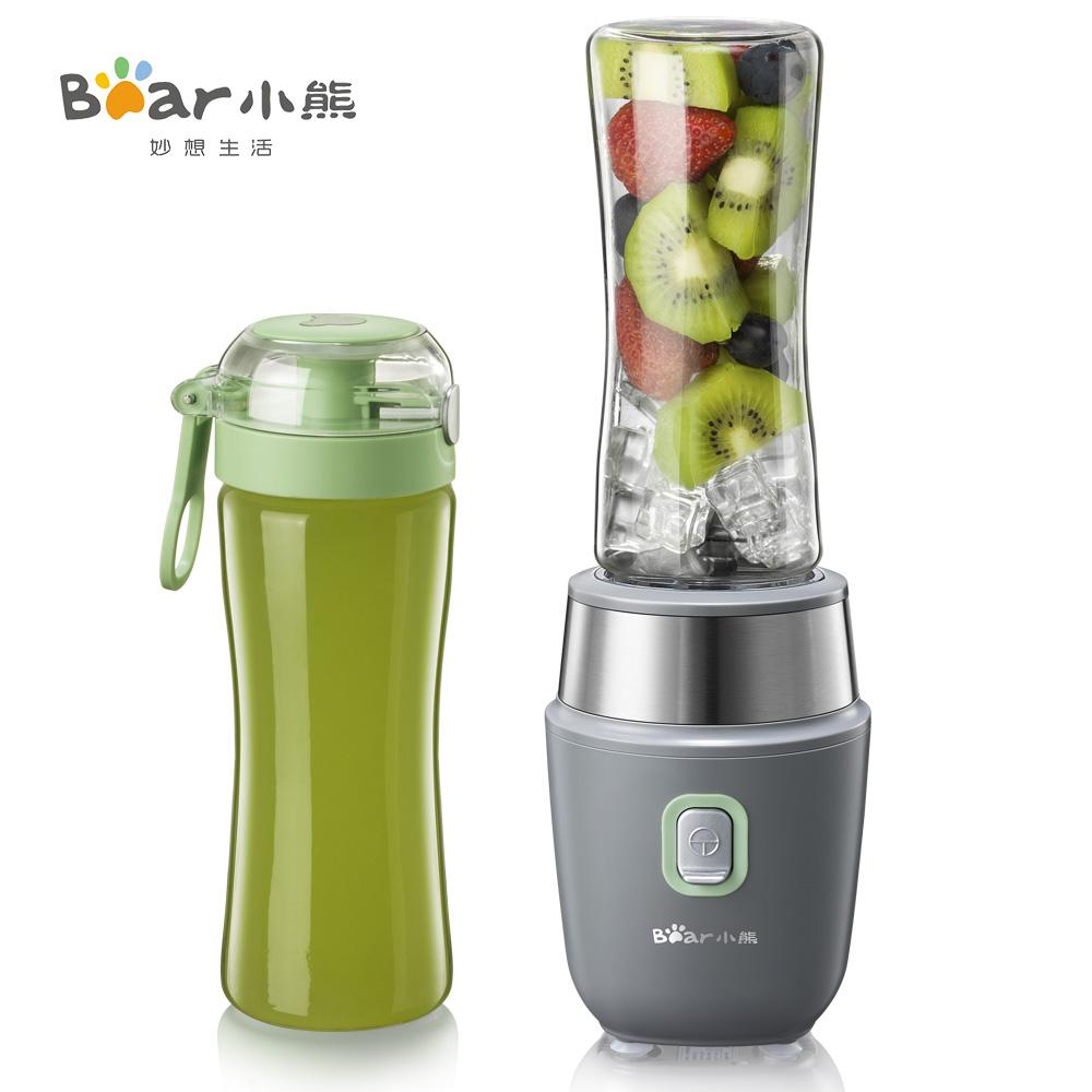 小熊加厚玻璃榨汁杯家用电动学生迷你便携炸果蔬果汁料理杯榨汁机