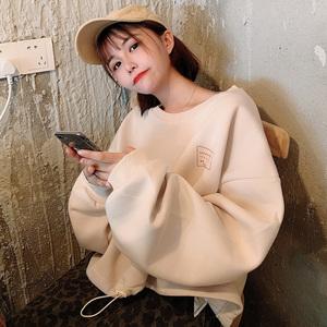 2019秋季bt365注册_bt365.com_bt365网站打开不了设计感小众抽绳短款怪味少女印花超火cec网红卫衣女