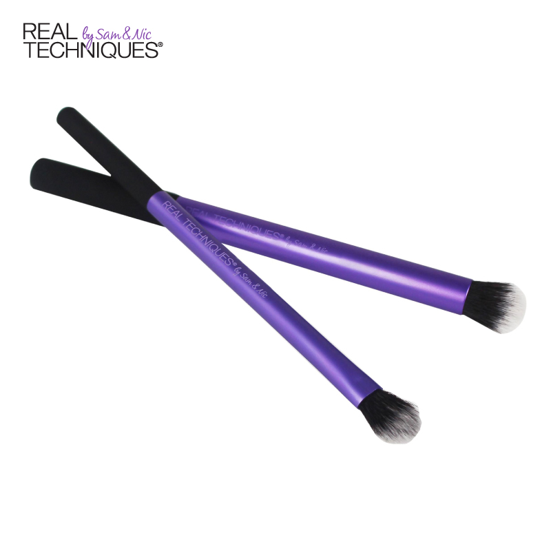 Techniques Hybrid Eyeshadow Brush Two Sets RT Eye Makeup Brush ...