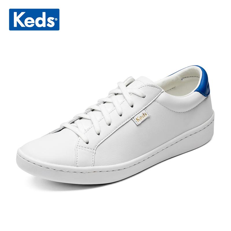 map-keds学院风皮质小白鞋百搭休闲圆头系带深口休闲板鞋平底女鞋