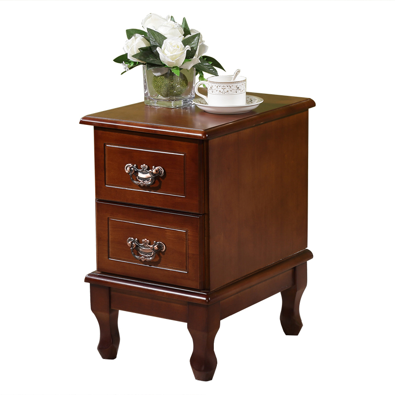 Bedside table solid wood simple cabinets mini bedside cabinet walnut american bedside table solid wood simple cabinets mini bedside cabinet walnut color drawer storage bedroom lockers watchthetrailerfo