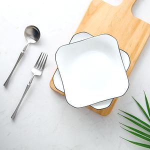 日式盘子套装菜盘家用ins网红餐盘创意西餐牛排陶瓷碟子北欧餐具