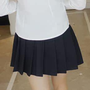 秋季韩版新款学院风百褶裙AA高腰半身裙显瘦百搭修身网球裤裙短裙
