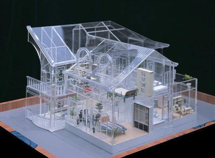 亚克力板透明沙盘建筑模型材料板材加工定做定制有机玻璃板材