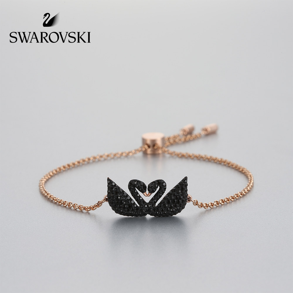 Swarovski ICONIC SWAN Black Swan Bracelet Women s High-end Bracelet  Temperament Jewelry Send Girlfriend Gift 6f2c3fb2e9