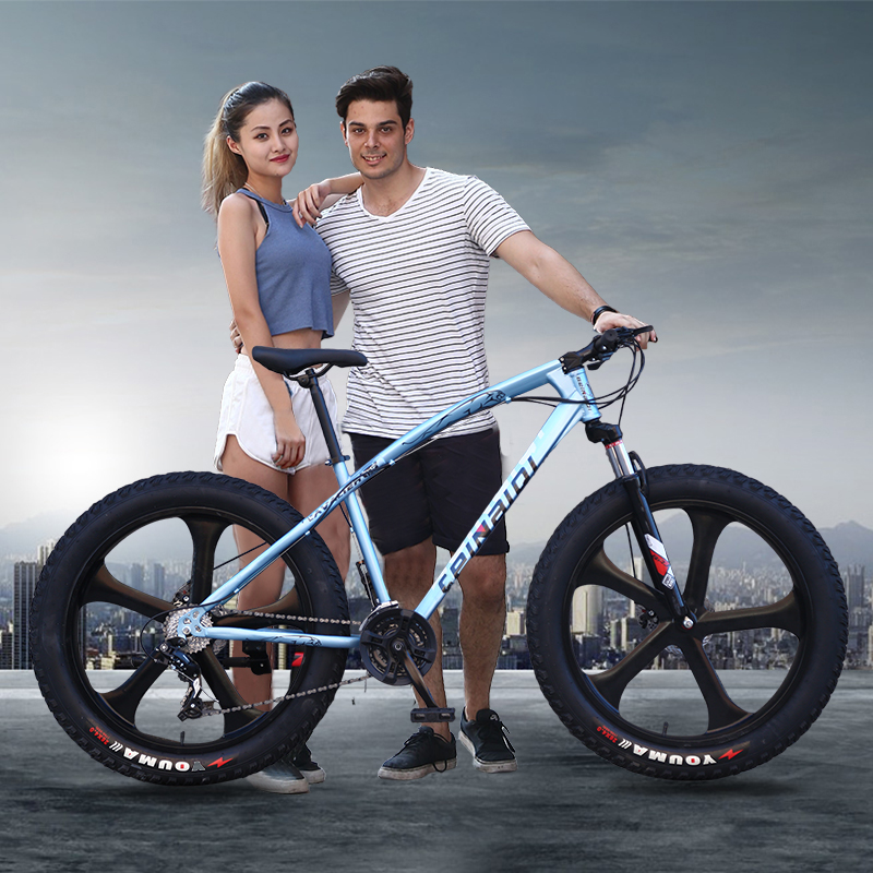 Yuma speed off-road beach snowmobile 4.0 super wide tire mountain bike men and women students bicycle