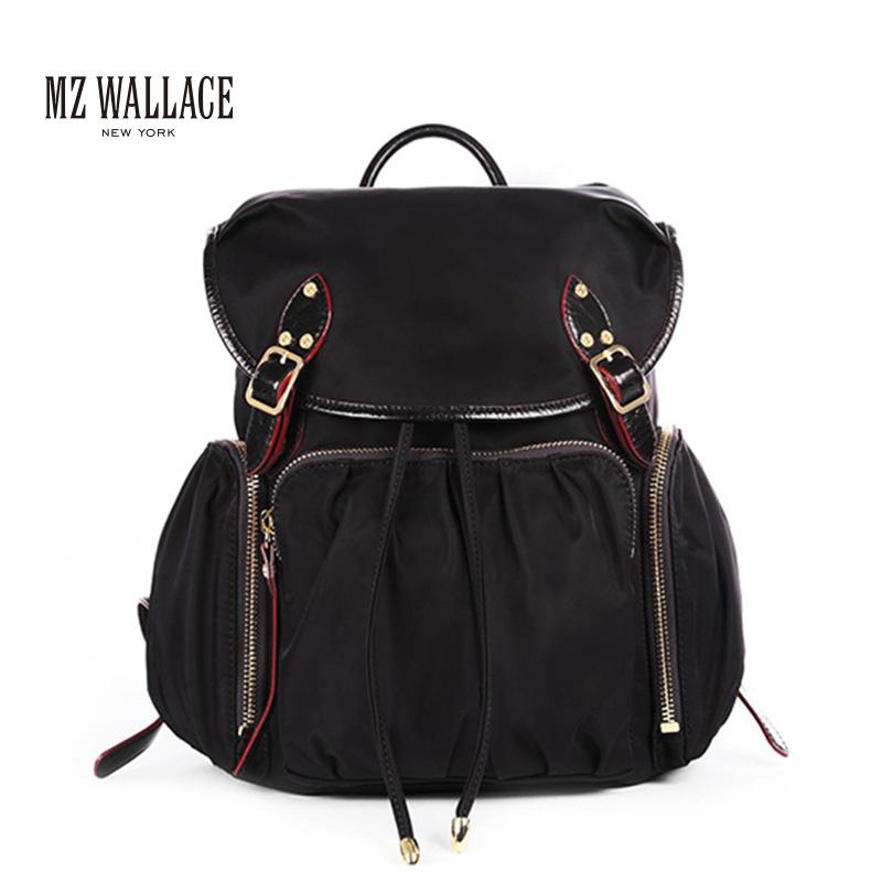 指定色MZ WALLACE尼龙配牛皮Marlena Backpack欧美时尚双肩包