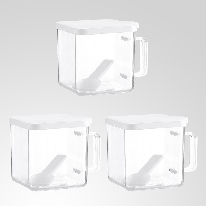 欧式塑料调味瓶套装厨房用品创意调味盒盐罐糖罐味精调料罐调料盒