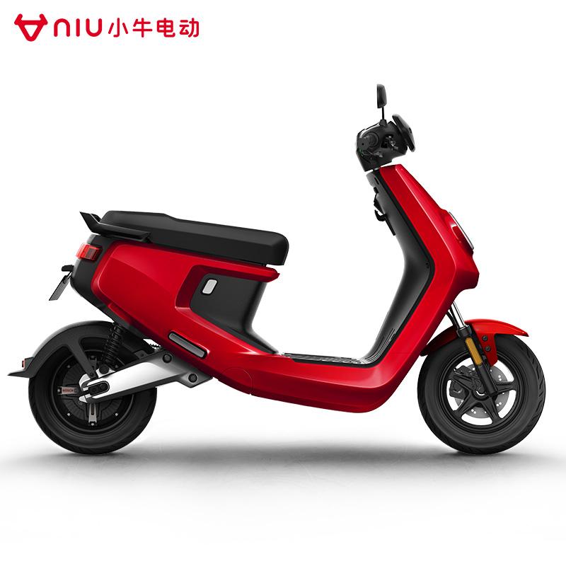 预售】小牛M+动力版电动车标准安全锂电池牛油保安全标准电瓶车