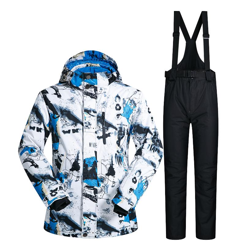 Цвет: Белый/синий + черные брюки