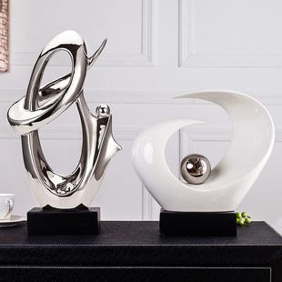 轻奢现代家居客厅电视柜玄关酒柜办公室装饰品招财摆件陶瓷工艺品