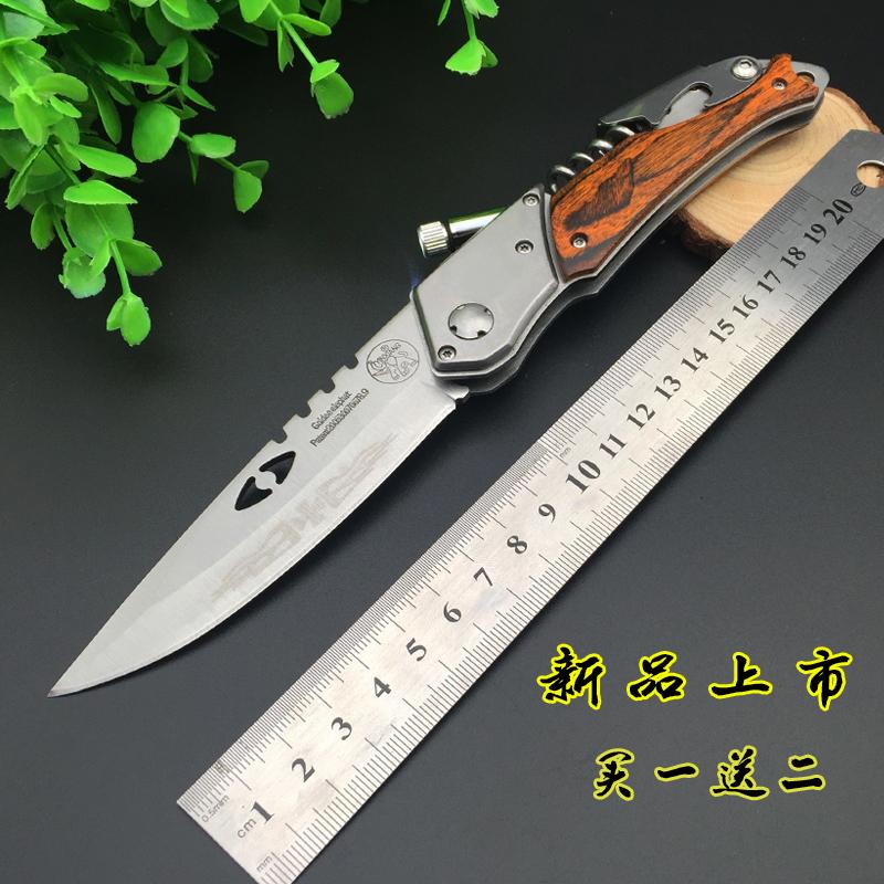 Туристический нож Открытый нож АК-47 со светло-пружинная сталь многофункциональный складной нож высокая твердость острый нож самообороны инструмент не прямой нож