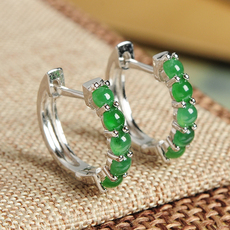 Серьги Certified jade jewelry abp0824 925
