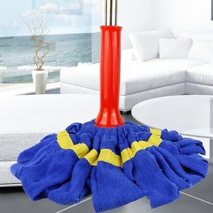 美的家家用懒人免手洗拖把挤水布条旋转墩布头地板拖布自拧水拖把