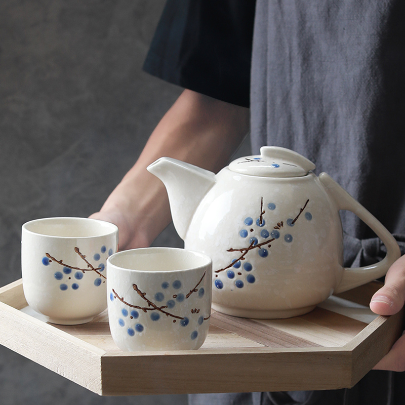 The teapot suit household utensils cup tea ware jingdezhen ceramic drinking cup Japanese kung fu tea kettle