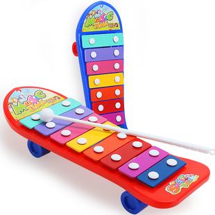婴儿健身架器新生儿音乐敲琴宝宝益智启蒙玩具0-1岁3-6-12个月