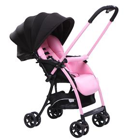婴儿可坐可躺超轻便携折叠四轮手推车