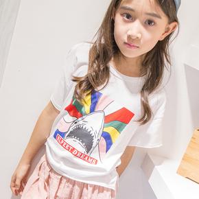 韩版女童夏季童装男童短袖T恤