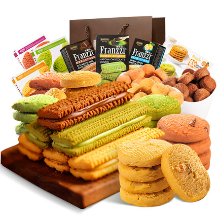 Snacks Pack Franzzi 1311g cookie gift box big gift package one full box mixed