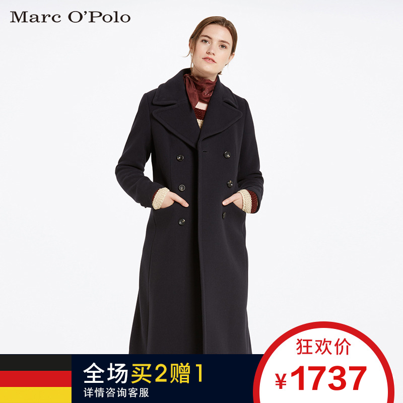 Marc O'Polo-MOP 冬季女士双排扣羊毛大衣 607012371179