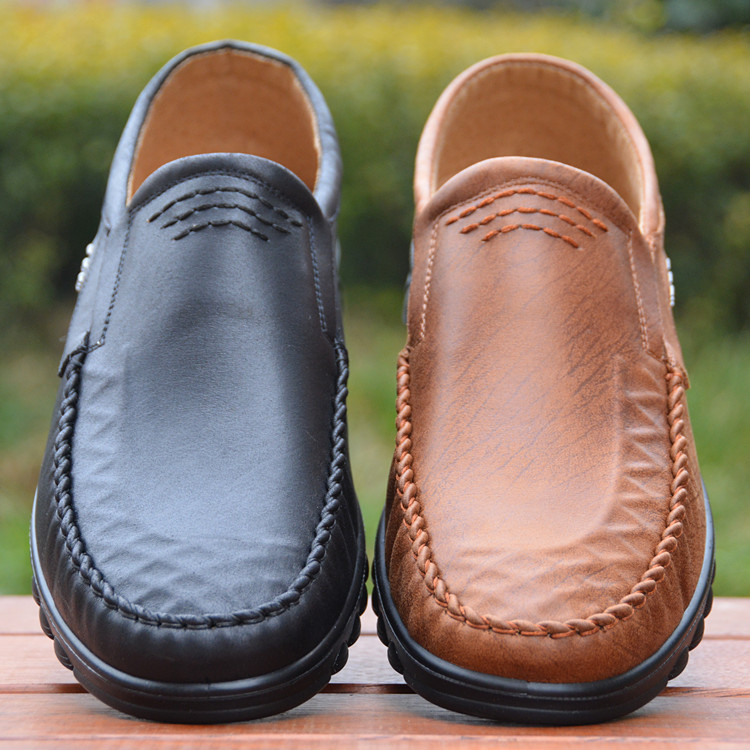 17年春季新款男鞋商务办公室男式单鞋轻底老北京布鞋黑色工装鞋_7折