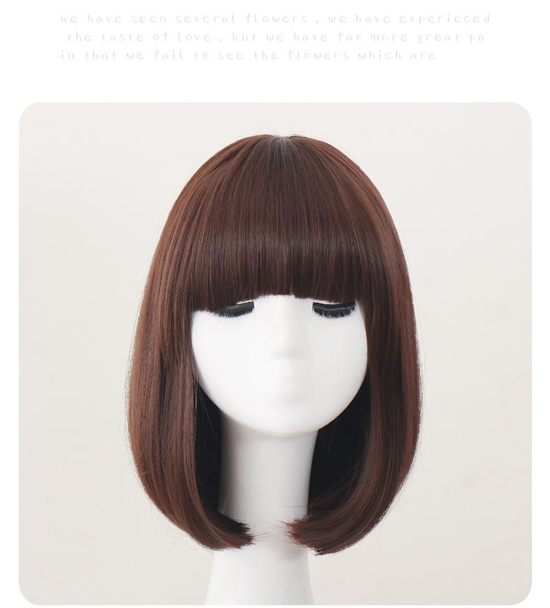 假发女短发 bobo头发型 波波头韩国 假头发时尚发套网红同款图片