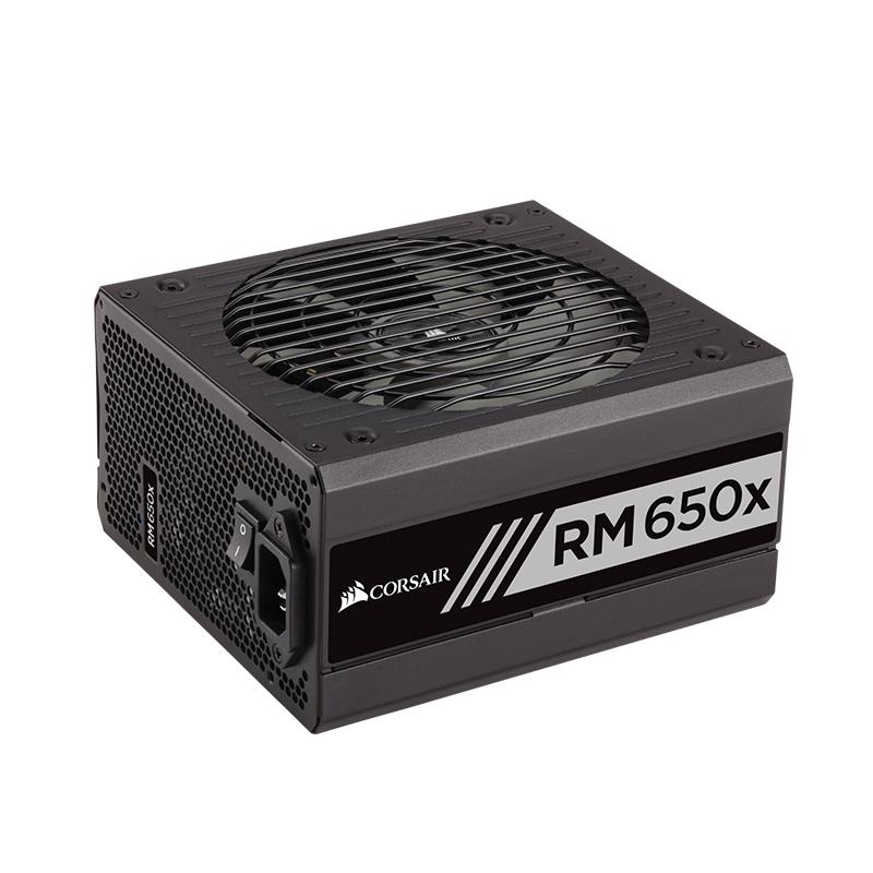 美商海盗船RM650x额定功率650W电源主机电脑台式静音高效全模组