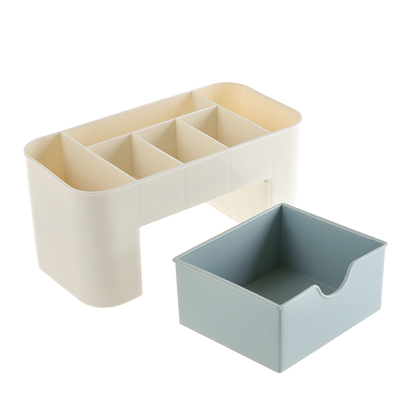 Office storage rack plastic cosmetics storage box simple desktop lipstick remote control small finishing box