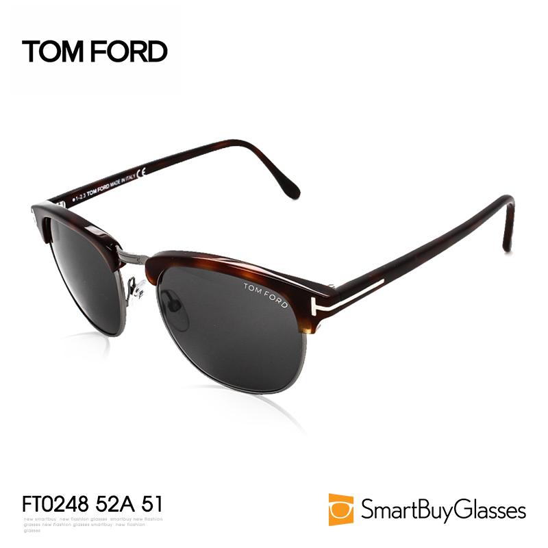 Tom Ford 汤姆福特太阳镜 男士墨镜 板材半框金属边太阳镜 FT0248