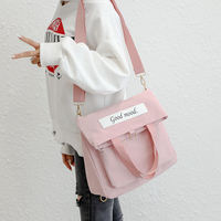 Canvas bag female slung student Korean shoulder bag Harajuku ulzzang handbag bag shoulder diagonal big bag