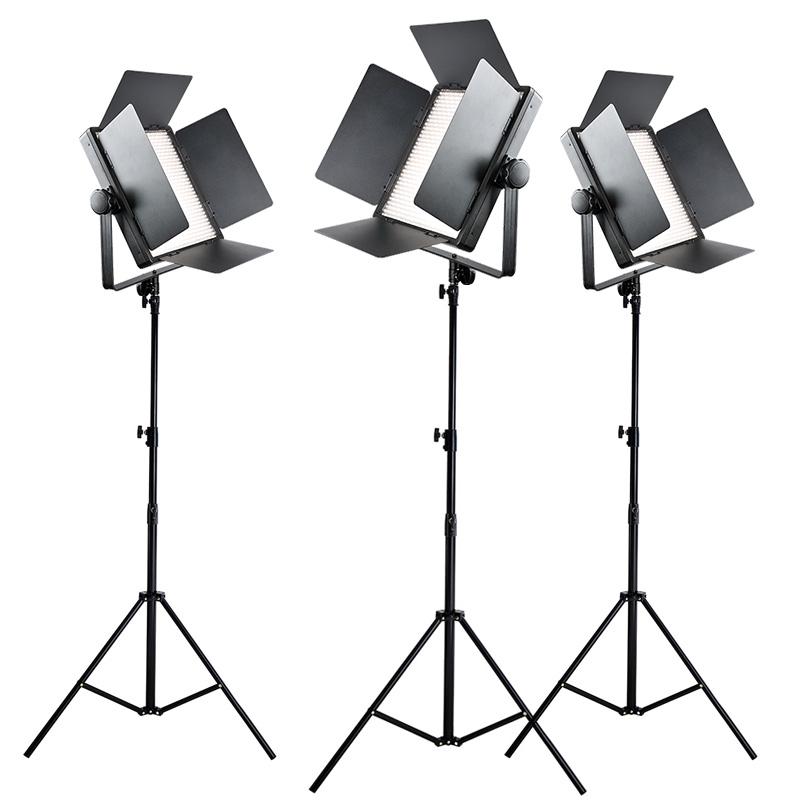 神牛LED1000摄影灯演播室led灯视频微电影影视电影摄像灯三灯套装 摄影照明灯