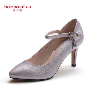 珂卡芙春夏女士时尚低跟圆头单鞋多款可选171系列