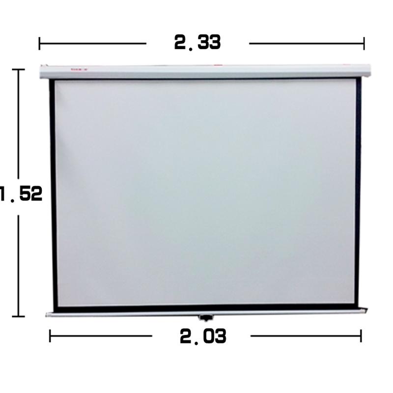 100寸16:9投影仪电动幕布办公家用高清投影机屏幕白-灰玻纤幕4:3