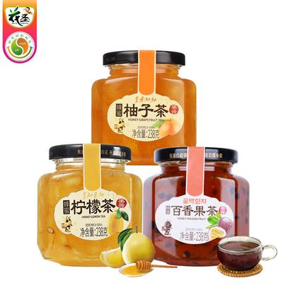 蜂蜜柚子柠檬百香果蜜茶238g*3瓶