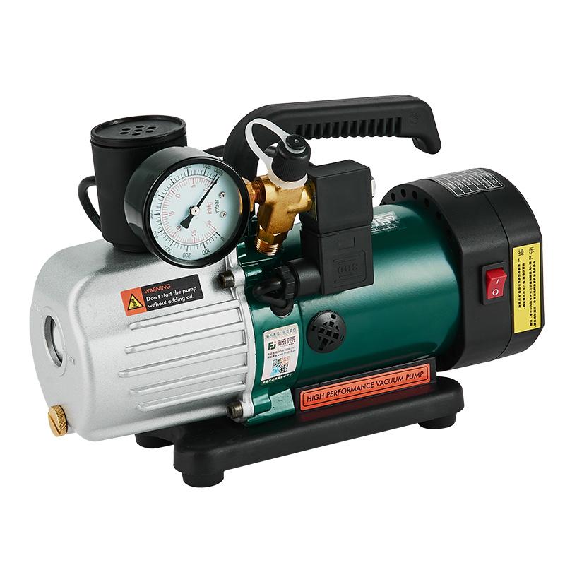 藤原旋片式真空泵抽真空包装机实验室冰箱抽气泵便携单级油真空泵
