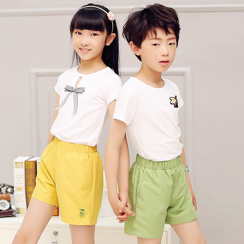 2018童装新款男童短裤儿童沙滩裤速干中大童夏季女童热裤薄款外穿