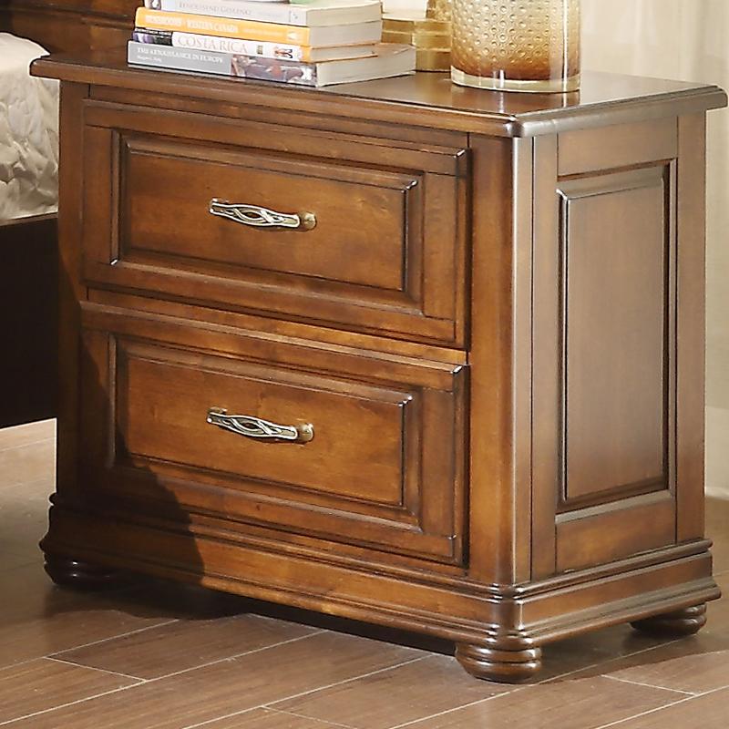 美特屋家具美式实木床头柜欧式乡村床边柜储物柜复古抽屉柜B602-5
