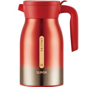 苏泊尔极光真空保温水壶304不锈钢家用保温瓶热水瓶大容量暖壶2l