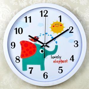 厂家直销包邮静音卡通时尚创意时钟现代电子客厅卧室壁挂石英钟表