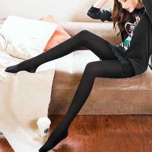 黑妞丝袜女天鹅绒防勾丝防脱黑色肉色连裤袜春秋中厚大码打底裤袜