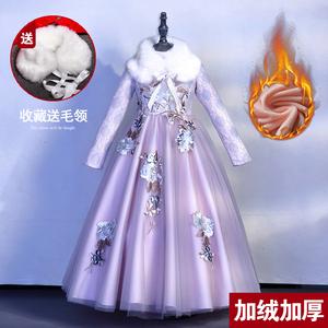女童礼服儿童公主裙小花童钢琴演出服秋冬季走秀主持人蓬蓬婚纱裙