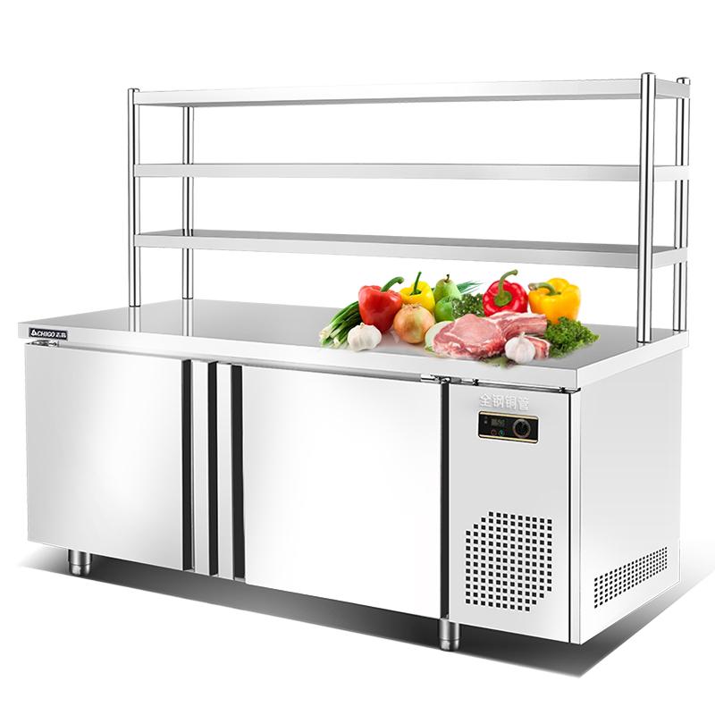 志高操作台冰柜冷藏柜保鲜平冷工作台商用冰箱冷冻冷柜厨房奶茶店