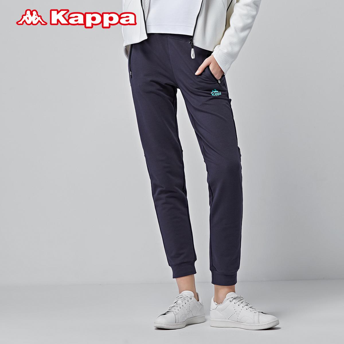 惠kappa卡帕女运动裤卫裤针织运动裤女长裤 |K0762AK10D