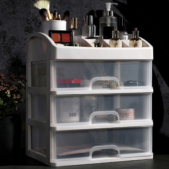 Net red cosmetics storage box dust shake sound with the desktop drawer type home dressing table skin care products rack