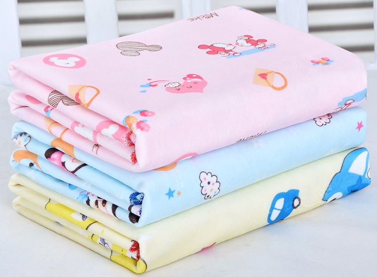 Baby double-sided crystal velvet pads waterproof can be washed oversized breathable baby leak-proof sheets menstrual aunt