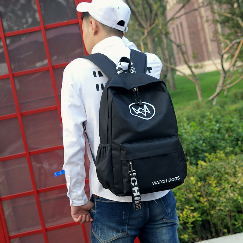 2017 campus junior high school bag male high school students Korean male backpack college students Oxford cloth shoulder bag