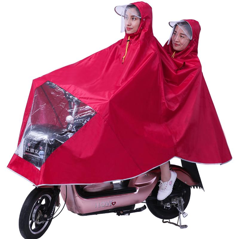 电瓶车雨衣双人加厚母子单人电动摩托车雨披防水女士时尚加大加厚