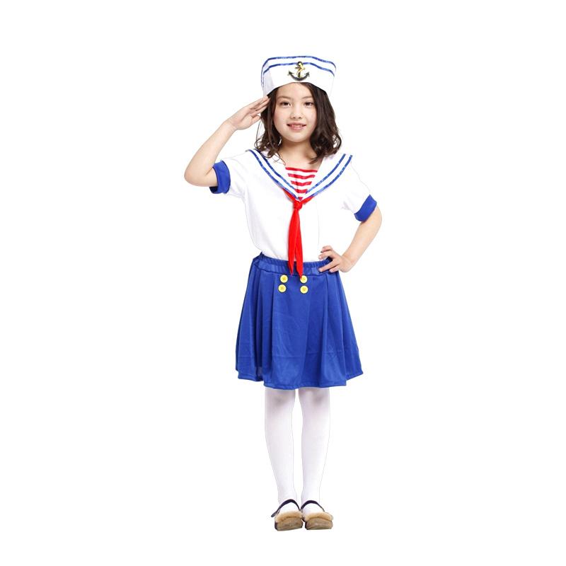 万圣节cosplay服装 儿童面具舞会警察制服表演服幼儿小警察装扮服