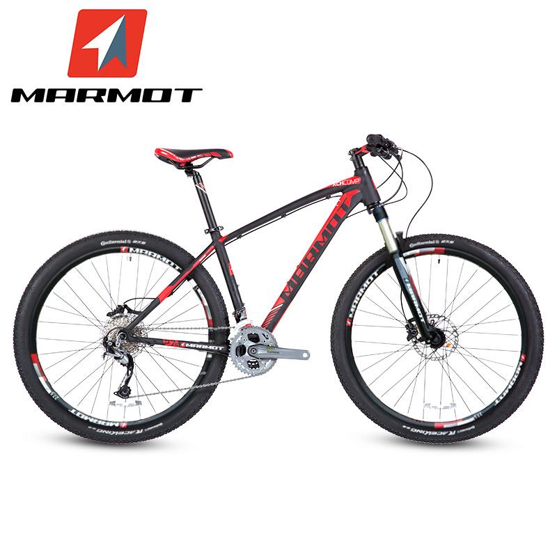 MARMOT土拨鼠变速自行车男女式山地进口单车铝合金山地车27速