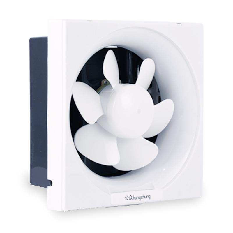 家用方形排气扇厨房百叶窗式换气扇油烟抽风机卫生间排烟排风8寸